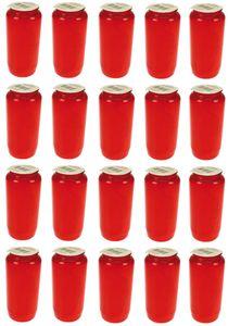 20x Öllichter Nr. 7 rot   Grablichter   Grabkerzen für Grablaterne Dauerbrenner