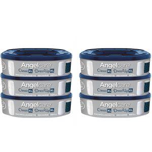 Angelcare Nachfüllkassetten für Windeleimer Dress-Up und Classic XL 6er Pack