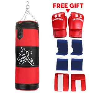 8tlg Set Boxen Boxsack Sandsack Boxing Training mit Boxhandschuhe Stahlkette