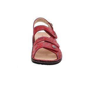 Finn Comfort Gomera, Damenschuhe, bequeme Sandale, Leder, Pomodore, NEU - Damenschuhe Sandale bequem / lose Einlage, Rot, leder (shibu)