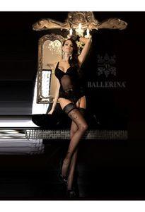 Ballerina Art. 246 Schwarz halterlose Strümpfe 20den L/XL