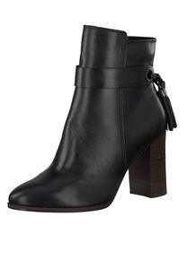 Tamaris Damen Elegante Stiefelette 1-25359-25 Schwarz 003 BLACK LEATHER Leder mit TOUCH-IT & ANTIslide Absatz, Groesse:40 EU