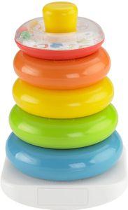 Pyramide bunter Stapelturm Baby Spielzeug und Lernspielzeug zum Sortieren und Stapeln, Babyausstattung ab 6 Monaten