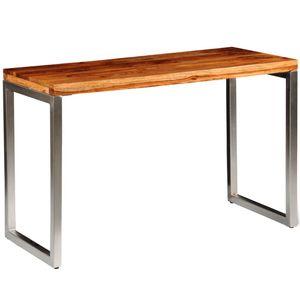 [Luxus] Esstisch,Küchentisch - Landhaus Stil Esszimmertisch für 4-6 Personen Schreibtisch,Küchentisch - Landhaus Stil Esszimmertisch für 4-6 Personen Massivholz mit Stahlbeinen☆Neu