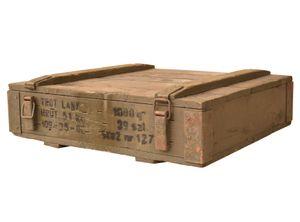 Kleine Munitionskiste aus Holz, 50x31x14cm