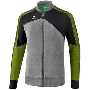Erima Premium One 2.0 Kinder Sportjacke grau/schwarz/grün 152