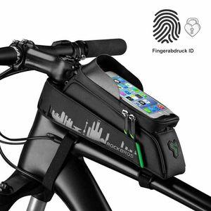 ROCKBROS Fahrradtasche Rahmentasche für Handy 6.00''  schwarz wasserdicht