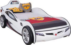 Cilek COUPE Autobett Kinderbett Bett Rennfahrerbett Weiß, Matratze:ohne