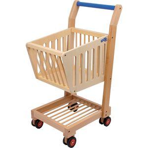 Small Foot Design 2499 Einkaufswagen aus Holz, natur