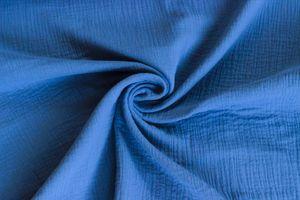 50cm Musselin-Stoff uni Meterware Mullstoff Mulltuch Baumwolle Farbwahl, Farbe:brillantblau