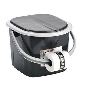 Reise WC Toilette Campingtoilette Eimer BranQ 15,5 L Toiletteneimer Branq