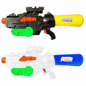 2er Set Wasserpistole mit XXL Wasser Tank | Spritzpistole Wassergewehr 60cm | Spielzeug Wasserspritzpistole 2l Fassungsvermögen