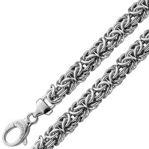 UNOAERRE abgerundete Königskette Silber 925 Herrenschmuck 20