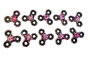 10 x Fidget Finger Hand Spinner Camouflage in pink - hochwertiges Kugellager -  10er Pack