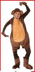 Affenkostüm, kurzer Overall Affe, Größe:M/L