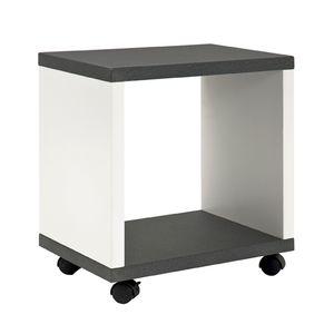 Haku Beistellwagen granitoptik-weiß - Maße: 43 cm x 30 cm x 48 cm; 87584