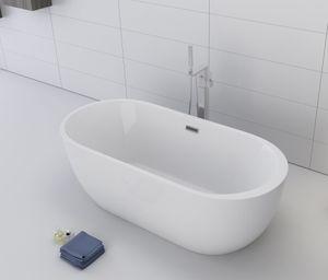 freistehende Badewanne BW-IX036 170 x 80 x 58 cm, weiß