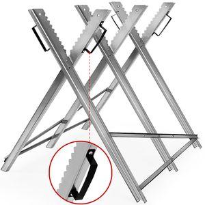 Sägebock Holzschneidebock Motorsäge Sägehilfe Metall Kettensäge Holz klappbar