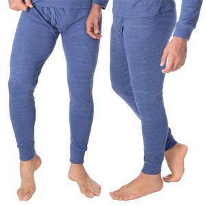 Black Snake® Thermounterhose Thermounterwäsche Sport Unterhosen Männer 2 Stück lange Unterhose - 4XL - Blau