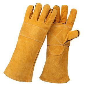 Schweißhandschuhe Rindsleder Schweißerhandschuhe, Gelb