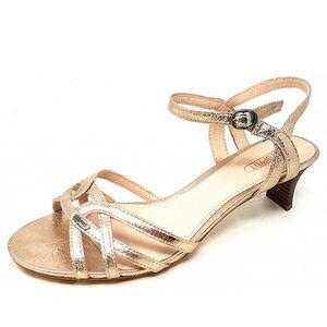 Esprit Sandalen Beige Größe 41, Farbe: gold metalic