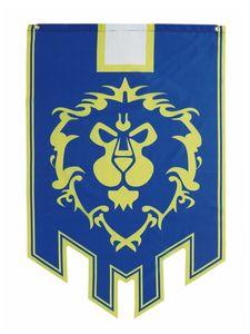 WoW Flagge der Allianz   Banner für World of Warcraft Fans   66x105cm