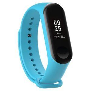 Silikon Sport Strap Fitness Tracker Ersatz Armband Uhrband Uhrenarmband kompatibel mit Xiaomi Mi Band 3 / 4 Blau