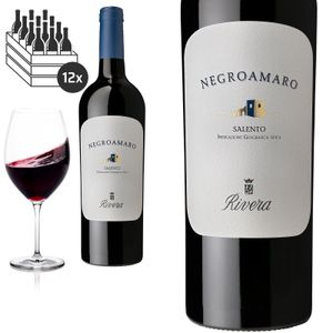 12er Karton 2017 Negroamaro Salento IGP trocken von Rivera Azienda Agricola - Rotwein
