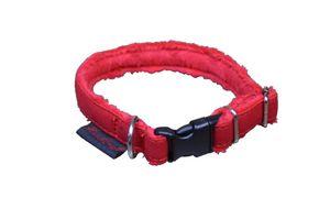 Hundehalsband Rot S/2cm Breit  Halsumfang 25-32 cm
