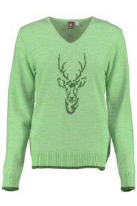 Damen Trachten Wolljanker Strickjacke Tracht Weste , Größe:38, Farbe:Hellgrün