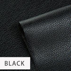 2 Stück Aufkleber zur Reparatur von Leder zum Aufkleben, schwarz, 20 * 50 cm, fixieren Sie sofort Ihre kostbaren Leder