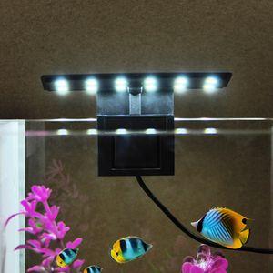 AC220V 5W 12 LED 5W Ultra dünne Aquarium Licht Fischglas Lampe Weißes Licht Tragbar