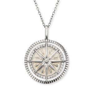 Engelsrufer ERN-WINDROSE-ENP-ZI Damen-Halskette Windrose Silber