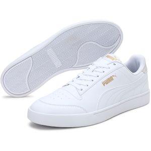 Puma Shuffle White White Team Gold Größe EU 44 Normal