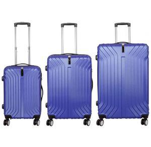 Monopol Kofferset Palma 3-teilig blau 37879 Koffer mit 4 Rollen