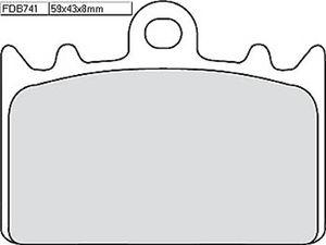 FERODO 581-741 Ferodo Racing-Bremsbelag FDB 741 CP 911 Nicht zur Verwendung im S
