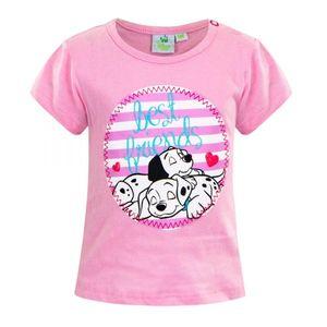 Disney Dalmatiner Baby Tshirt, rosa, Glitzer, Gr. 62-92 Größe - 86