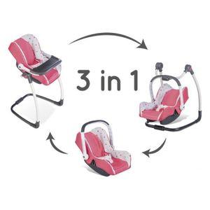 Smoby 3032162402313, Puppen-Hochstuhl, 3 Jahr(e), Pink, 8 Jahr(e), Kunststoff, 1 Sitz(e)