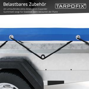 Tarpofix® Anhängerplane 140 x 105 x 7,5 cm mit Planengummi - PKW Flachplane für DDR Anhänger HP300, 350, 400 & 401 I Anhänger Abdeckplane