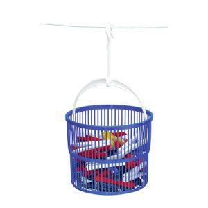 Wäscheklammer-Korb Beutel Klammerkorb mit Wäscheklammern