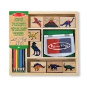 Holzstempelset Dinosaurier