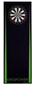 Dart Darts Teppich Target Oche Matte Steeldart Dartpfeile Dartboard Zubehör Dartteppich Abwurflinie Schutz Gummi Dartscheibe 237 x 80 cm Grün Kingpower