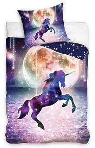 Einhorn Bettwäsche 135x200 cm Unicorn Pferde Magic bunt Renforce Baumwolle Wende