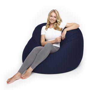 Lumaland Flexi Comfort Sitzsack Premium Bean Bag Sitzkissen Big 155 x 100 cm Navyblau