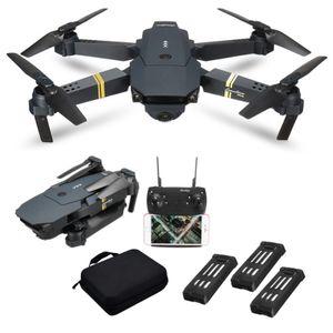 720P HD-Kamera Ferngesteuerte Drohne E58 Ferngesteuerte Luftaufnahme 4K WiFi 2,4 GHz Aufbewahrungstasche + 3 Batterien