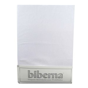 Biberna 02744 Feinbiber-Spannbettlaken Deluxe 100 x 200 cm, Farbe:Grau, Grösse:100 cm x 200 cm