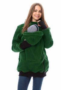 GFWL Tragejacke #Känguru Mama Baby Trage Jacke Allround Fleece GF2301XC in Grün, Größe Damen EU:42 X-Large