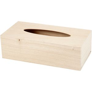 Creotime dekorative Tissue-Box aus Holz