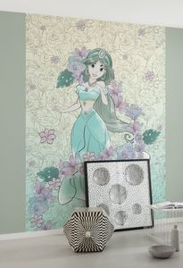 "Komar Vlies Fototapete ""Jasmin Pale Flowers"" - Größe: 200 x 280 cm (Breite x Höhe), 4 Bahnen"