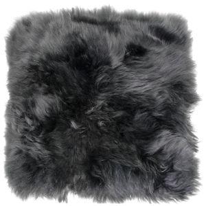 Sitzkissen aus bestem Lammfell hochwollig, Farben:dunkelgrau